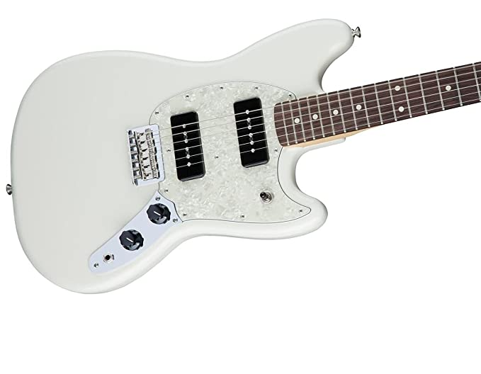 Guitarra eléctrica Fender Mustang 90 RW Olw W/Stand y sintonizador ...