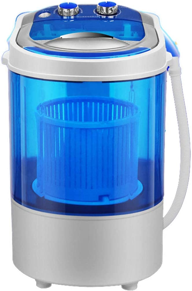 2020 Última Mini Lavadora Portátil,Pequeña Lavadora Compacta Semiautomática Y Secadora De Centrifugado, Con Control De Temporizador Individual Tina Translúcida Para Dormitorios De Lavandería ,Azul