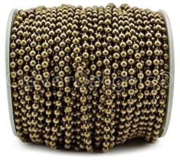 CleverDelights Ball Chain Spool - 30 Feet - 3.2mm Ball (#6 Size) - Antique Bronze Color - 10 Meters