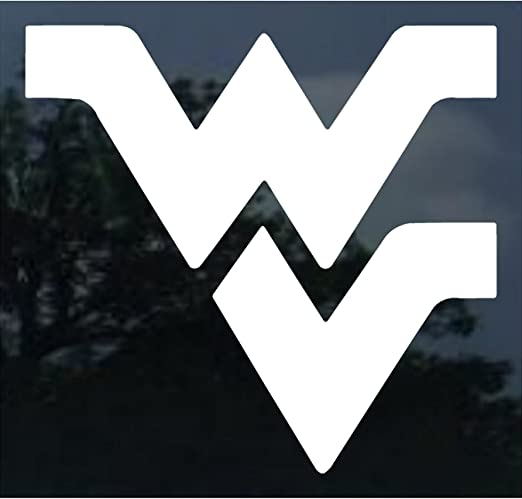 WinCraft NCAA West Virginia Mountaineers Decal4x4 Perfect Cut White Decal One Size Team Colors