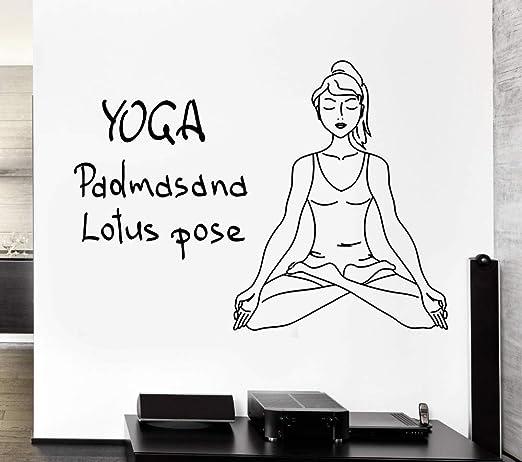 haochenli188 Yoga Tatuajes de Pared Posición de Loto Meditación Om ...