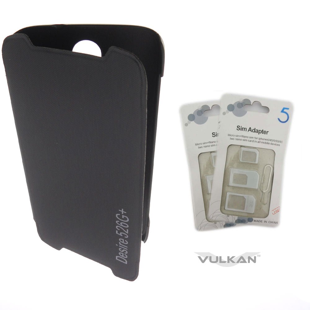 buy online 150c5 5e5f1 Vulkan Flip Cover Case for HTC Desire 526G Plus +: Amazon.in ...