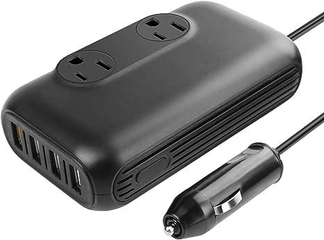 Amazon.com: Inversor de corriente para coche de 200 W, DC 12 ...