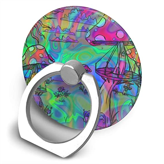 Amazoncom Psychedelic Trippy Wallpaper Phone Ring Stand Holder