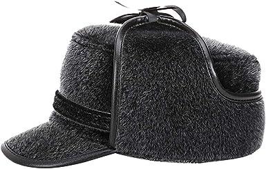 AIEOE - Sombrero de Piel Nutria Sintética de Caza Forro Felpa ...