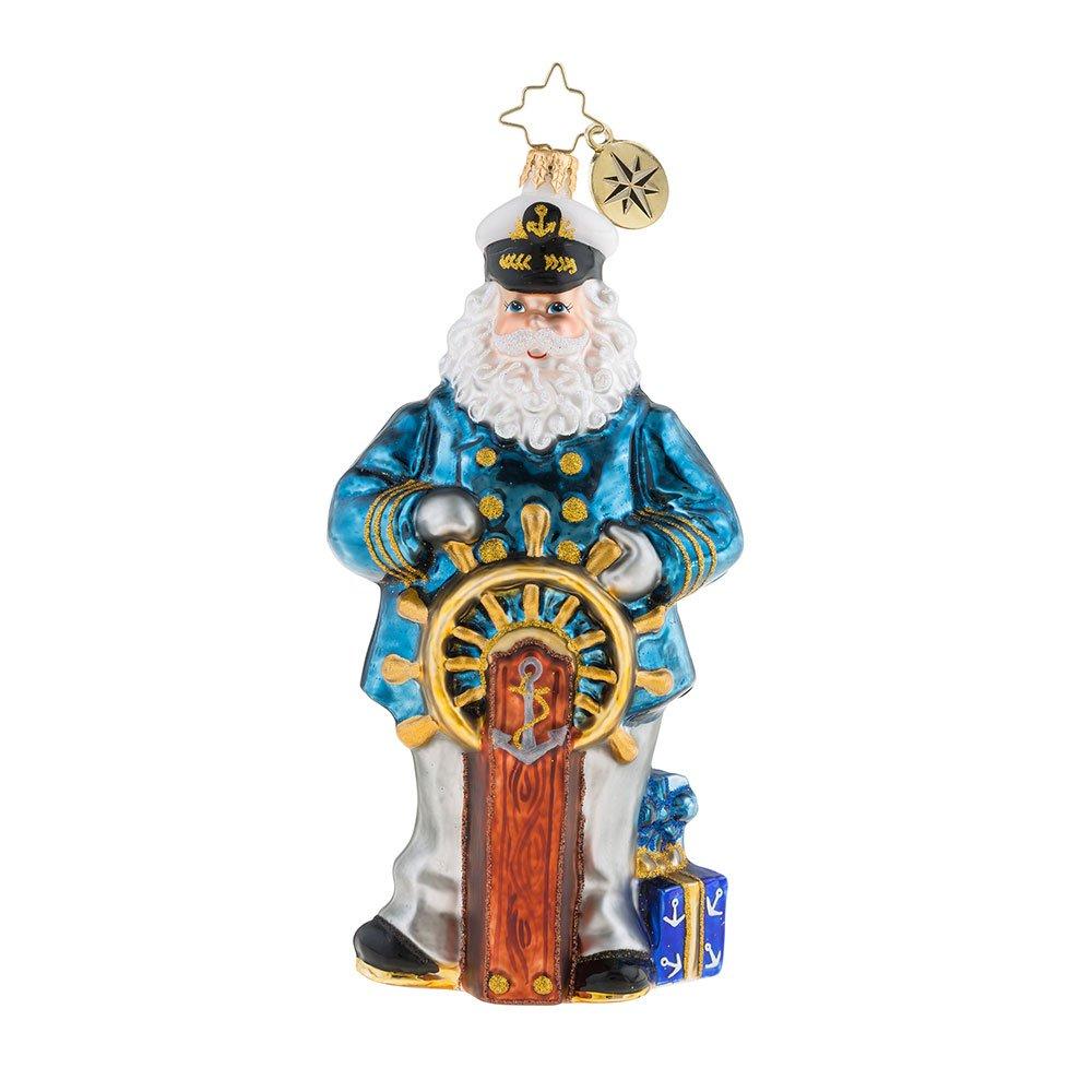 Christopher Radko Seven Seas Santa Christmas Ornament