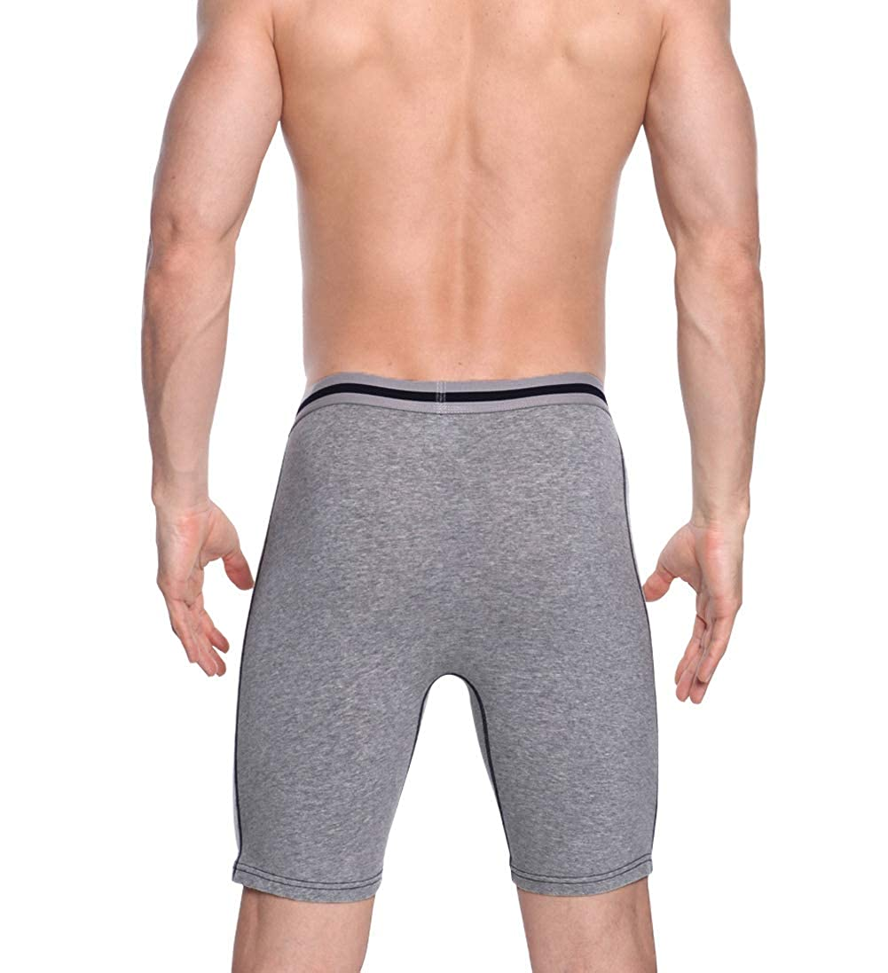 Confezione da 3//4 Pezzi Boxershort Set ZLYC Biancheria Intima da Uomo in Cotone a Gamba Lunga con Slip Piccolo
