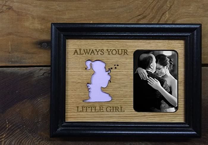 Amazon.com: 5x7 Always Your Little Girl Picture Frame with Cutout ...