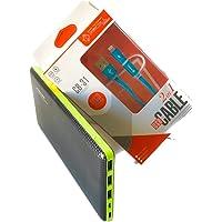Carregador Portátil Pineng 20.000mah para Galaxy J2 + Cabo Cromo Pmcell 2x1 Micro e Iphone.