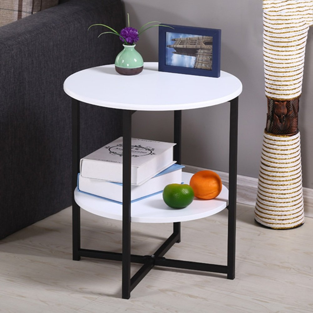 B2 LVZAIXI Small Round Table Modern Minimalist Living Room Phone Small Side Table Corner (color   D2)