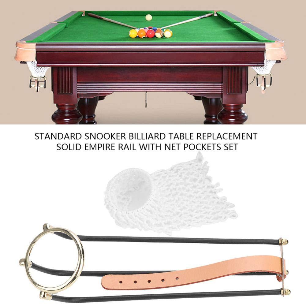 6Pcs Billiards Table Rail Pockets Standard Pool Snooker Billiard Table Replacement Empire Pocket Rail with Net Pockets