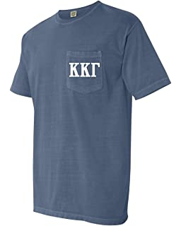 60d36f659f7a Kappa Kappa Gamma KKG Sorority Comfort Colors Pocket Long Sleeve ...