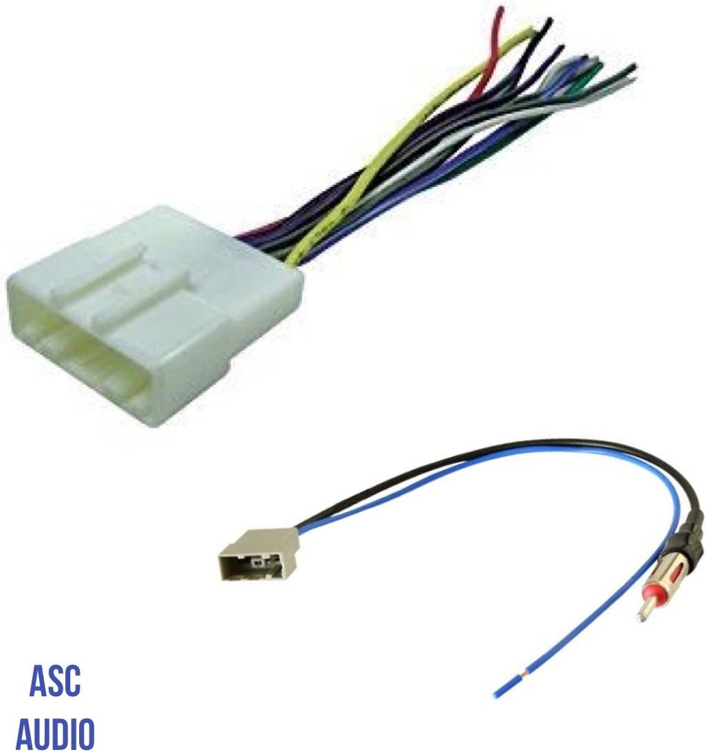 Amazon.com: ASC Audio Car Stereo Radio Wire Harness and Antenna Adapter to Aftermarket  Radio for some Infiniti Nissan Subaru etc.- listed below: Car ElectronicsAmazon.com