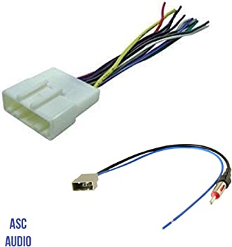 ASC Audio Car Stereo Radio Wire Harness and Antenna Adapter to Aftermarket on aftermarket stereo adapter box, aftermarket engine harness, jvc radio harness, 2012 dodge ram radio harness, aftermarket stereo color codes, aftermarket wire harness, aftermarket radio with navigation, aftermarket radio antenna, aftermarket radio connectors, stereo harness,