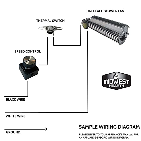 Amazon.com: Midwest Hearth Fan Sd Control Kit   Fireplace and ... on wood fireplace wiring diagram, wood stove wiring diagram, outlet wiring diagram, fireplace fan remote control, fireplace heater wiring diagram, electric fireplace wiring diagram, fireplace blower wiring diagram, fireplace fan cover,
