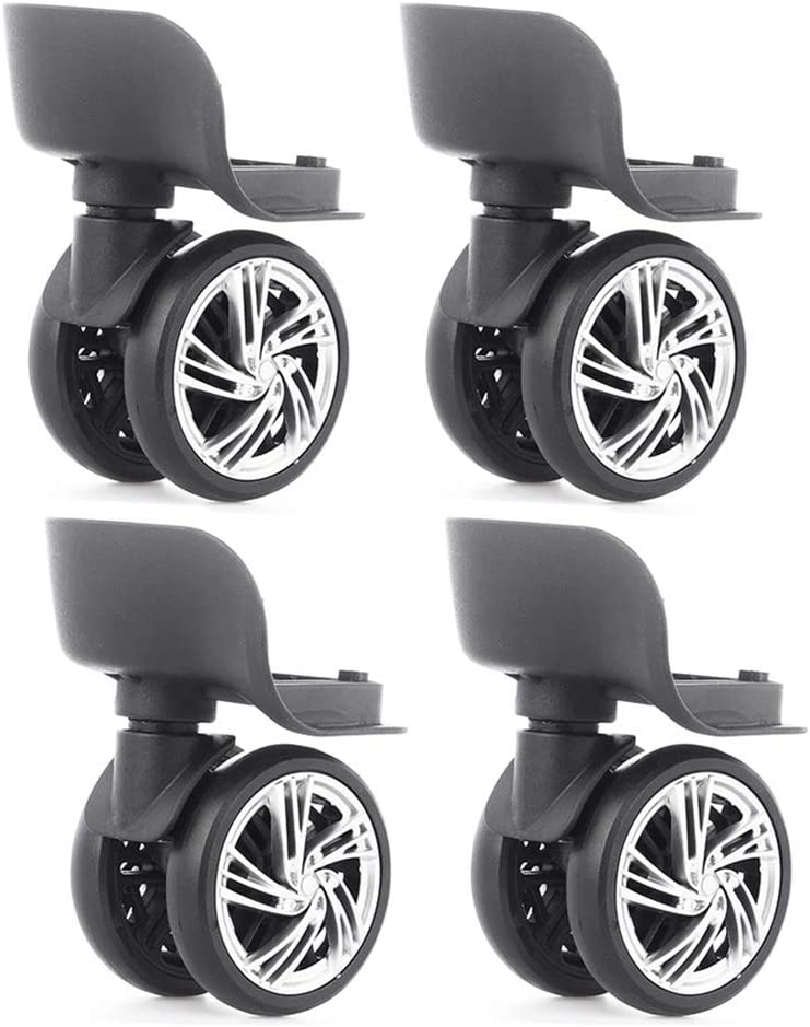Katahomie Luggage Travel Suitcase Wheels 2.2 inch, Replacement Outdoor Caster Wheel- 2Pair