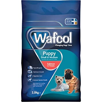 Wafcol Puppy Sensitive Dog Food Salmon Potato Grain Free Dog Food For Small And Medium Breeds 25 Kg Pack