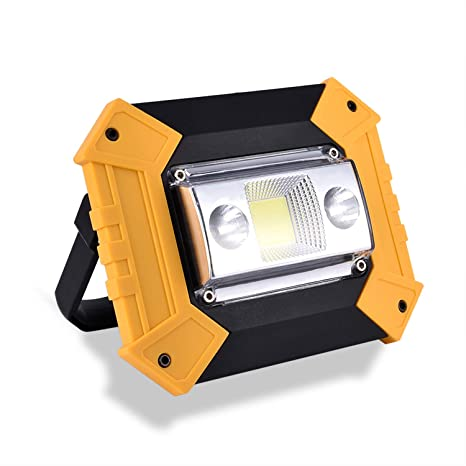 Super Bright Rechargeable Portable Waterproof LED Flood Lights Outdoor Camping Emergency Car Repairing Job Site Lighting KOKOIN COB 30W 1500LM LED Work Light 2 Pack