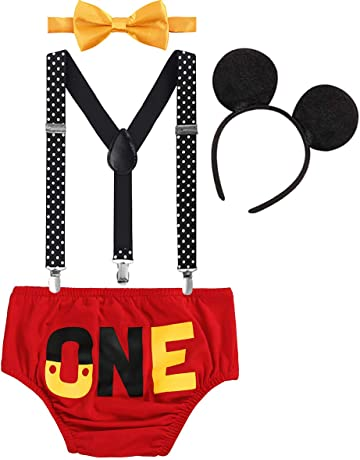 d6543e9733f5d IWEMEK Newborn Baby Boys Girls Cute Mouse 1st Birthday Halloween Costume  Cake Smash Bloomers Shorts +