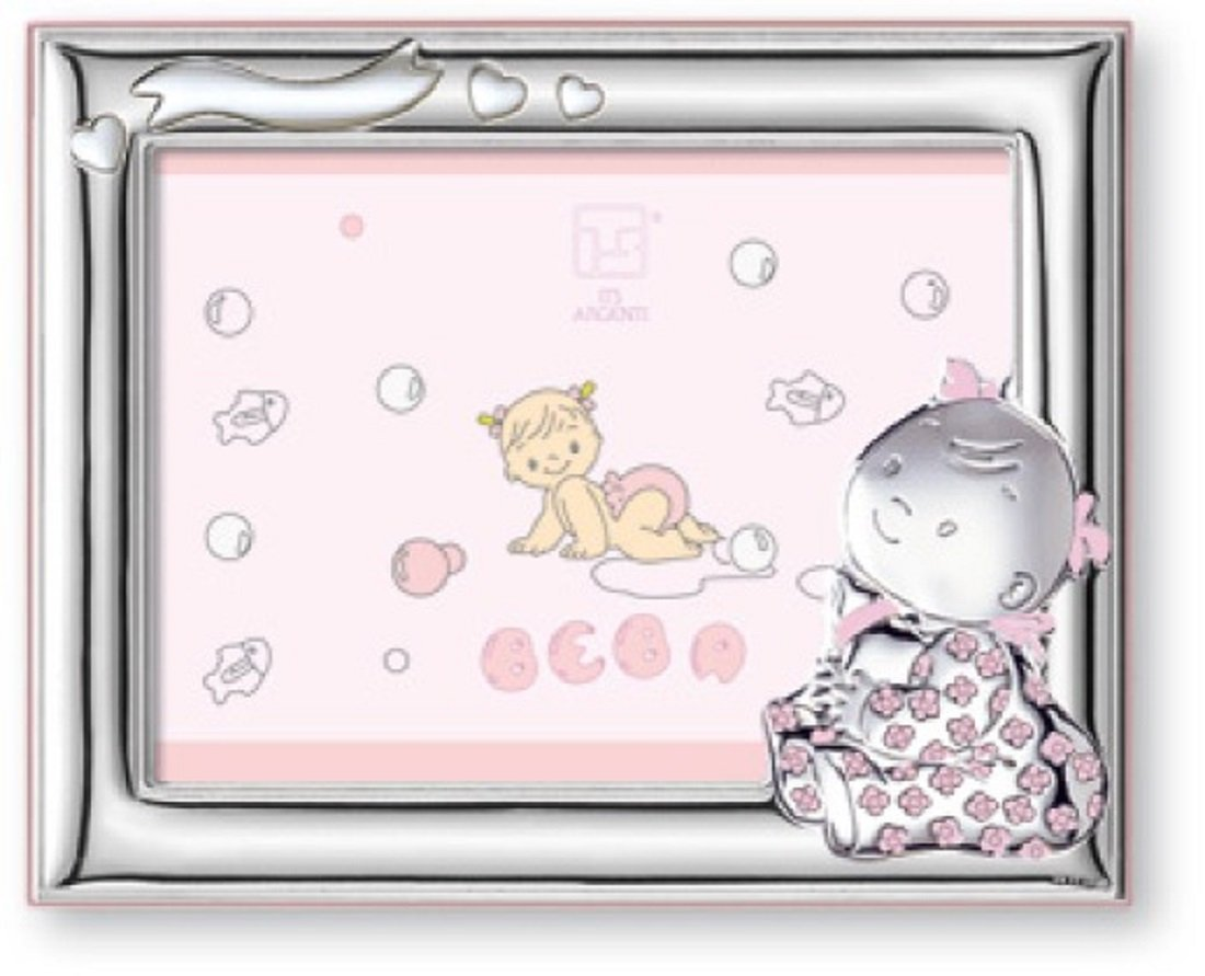 Silver Touch USA Sterling Silver Picture Frame, Baby Girl, 4'' X 6''