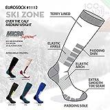 Eurosocks Zone Ski Socks, Black/Asphalt, Large