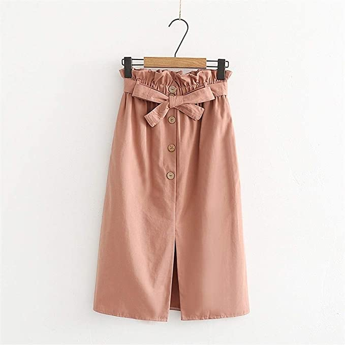 Haucalarm Falda con lazo para mujer, falda con falda con abertura ...