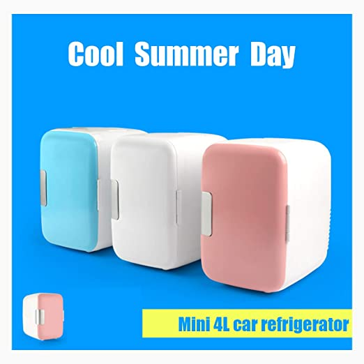 QWY Mini frigorífico con congelador,Nevera portátil,Compacto ...