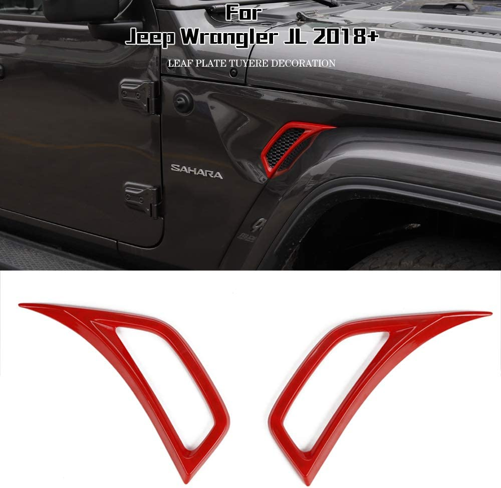 JeCar Interior Accessories 7 GPS Navigation Panel Cover Dashboard Decor for 2018-2020 Jeep Wrangler JL JLU Red