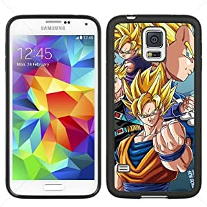 Dragon Ball Manga Comic Slim SON GOKU Samsung Galaxy S5 SV I9600 TPU Soft Black or White case (Black)