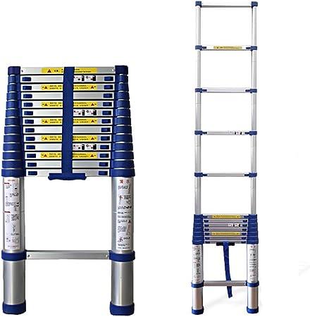 Wj Escalera telescópica Escalera Telescópica de Aluminio de 2 a 8 M, Escalera de Extensión Portátil Multiusos para Loft, Escalera Telescópica para Exteriores, Carga Máxima de 200 Kg / 440 LB: Amazon.es: Hogar