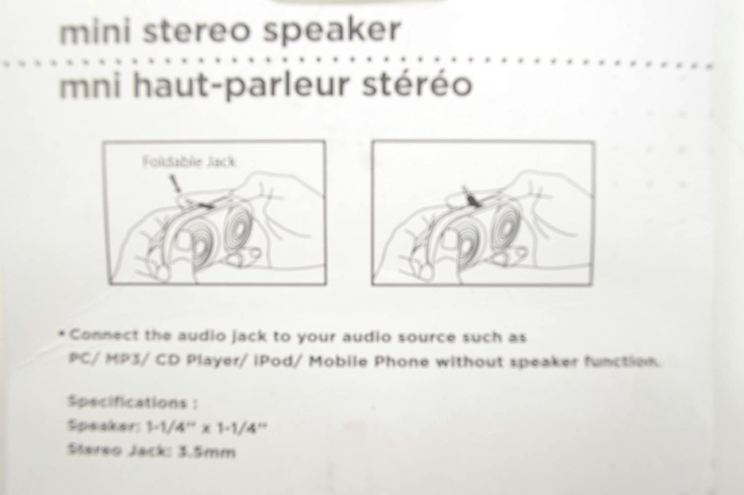 Mini Stereo Double Speaker With 35mm Foldable Jack 125 Ipod Headphone Wiring Diagram Black Or White Home Audio Theater