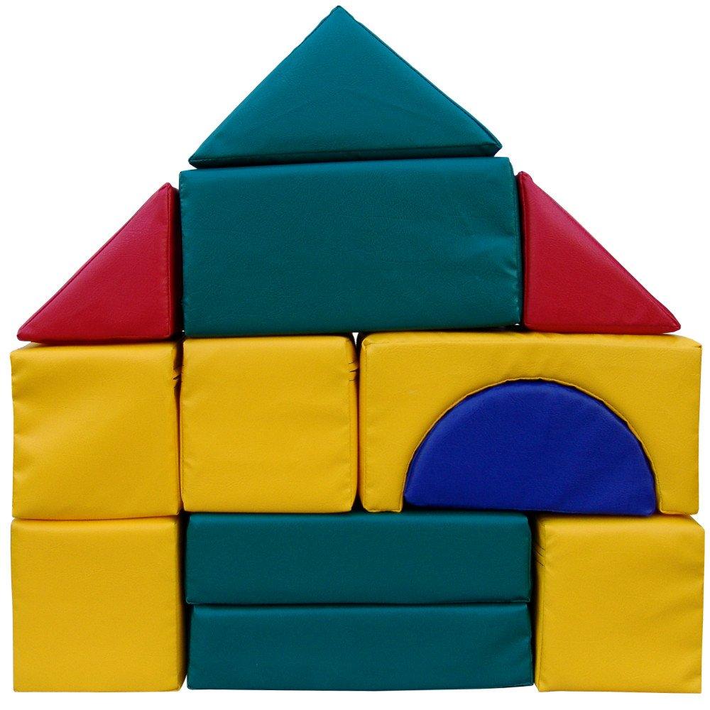 Großbausteine Kindergarten Kita Qualität Qualität Qualität Kunstleder-Bezug Reißverschluß 12 Teile bb701e