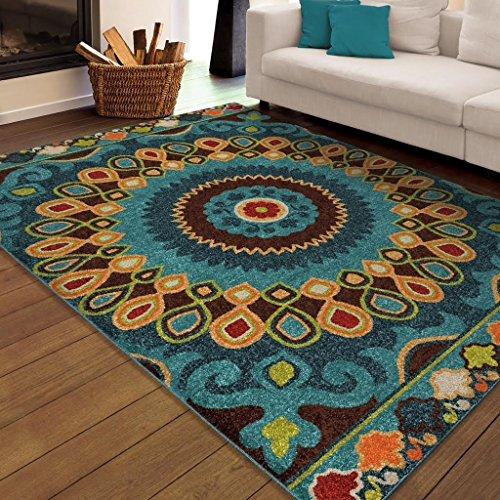 Indoor/Outdoor Santa Barbara Collection Bangkok Multi Area Rug (5'2 x 7'6) (Bangkok Outdoor Furniture)