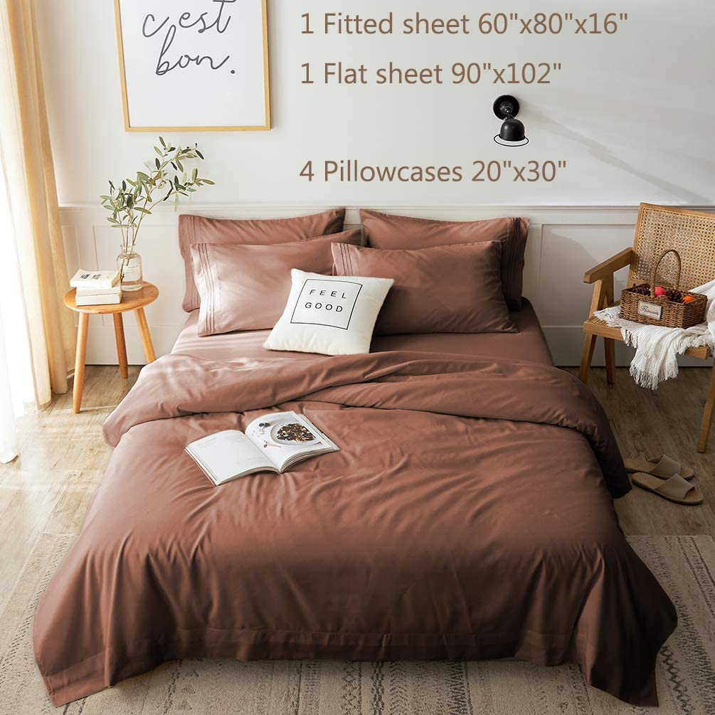 LBRO12M Bed Sheets Set Queen Size 12 Piece 112 Inches Deep Pocket 12 Thread  Count 12 Microfiber Sheet,Bedding Super Soft Hypoallergenic ...