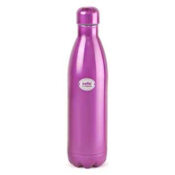 Cello S Cross Stainless Steel Flask, 750ml, Purple Thermos   Vacuum Flasks