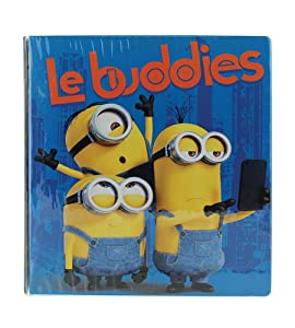 "Minions 1"" O-Ring Vinyl Binder with Pockets ~ Le Buddies (Stuart, Bob and Kevin; 10.25"" x 11.3"")"