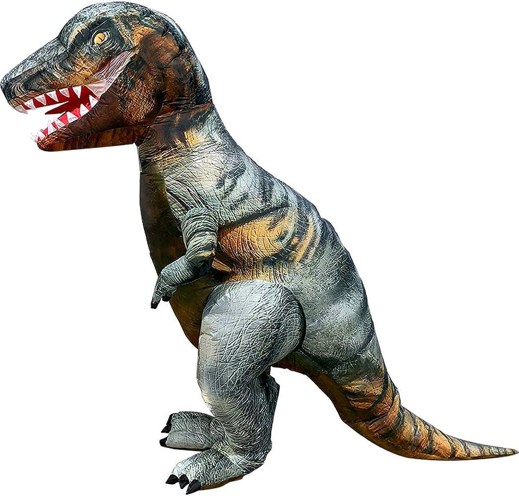 Amazon.com: Vantina - Disfraz de dinosaurio inflable para ...