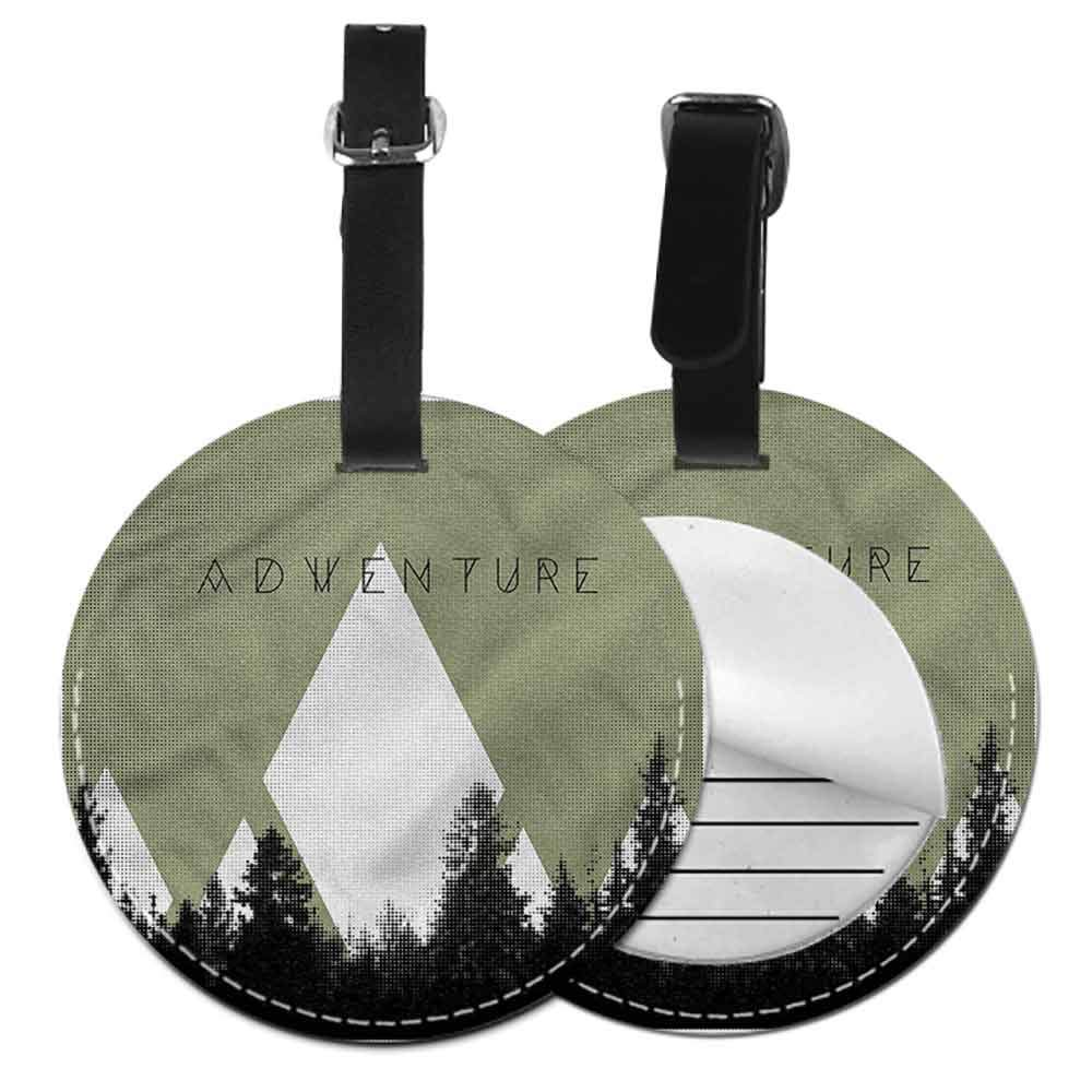 Boarding Tags Luggage Tag Adventure,Explore Wild Forest Tag Portable Women