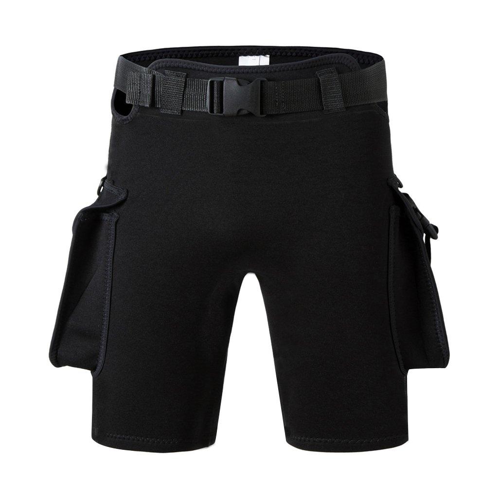 baoblaze Scuba Divingパンツ水泳シュノーケリングカヤックWetsuit Shorts withクイックリリースベルトバックル – XL B07B4ZD6F3