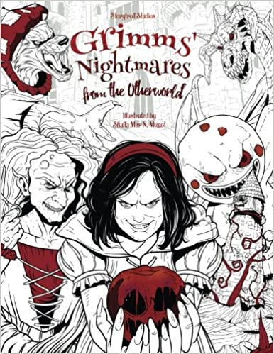 Grimms\' Nightmares from the Otherworld: Adult Coloring Book Horror ...