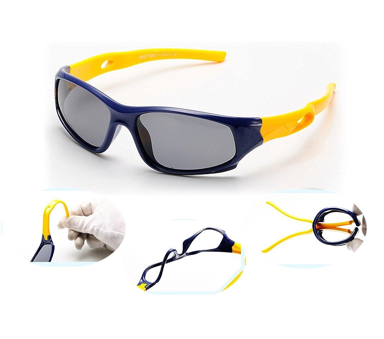 VIVIC Kids Sport Sunglasses Polarized TR90 Silcon For Boys Girls Age 3-14