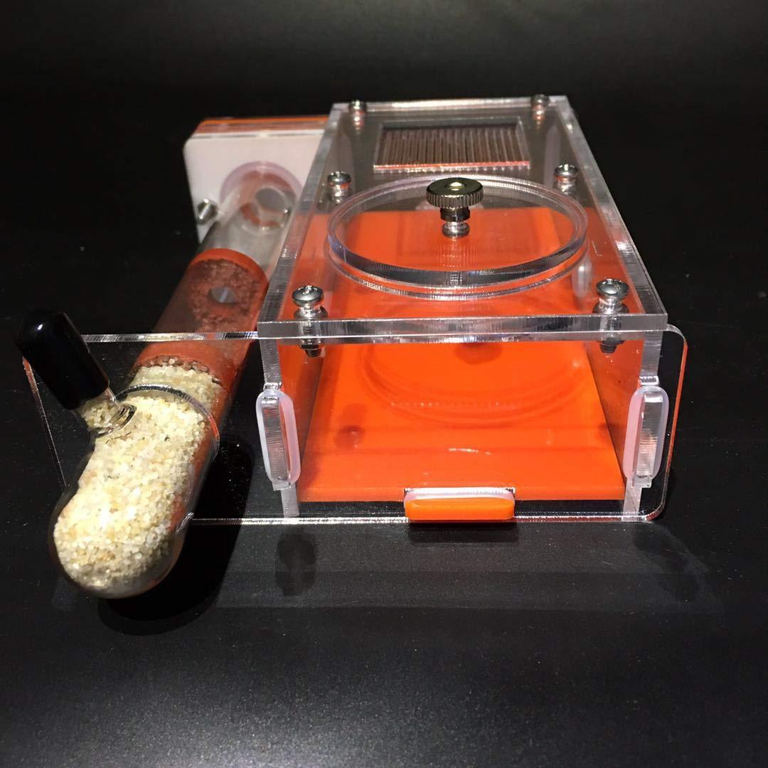 ROUND YUAN Tubos de Vidrio 20x150mm Hormigas Nido Tubos de Vidrio de bambú para Hormigas Reina Living Villa Niños Hormigas ecológicas DIY Castillo de la ...