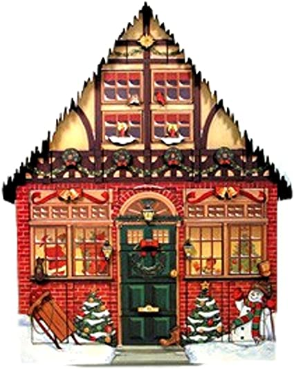 Byers Choice Christmas House Advent Calendar By Byers Choice Amazon Co Uk Kitchen Home