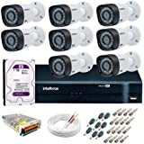 Kit de Câmeras de Segurança-dvr Intelbras 8 Ch G2 Tríbrido Hdcvi+8 Câmeras Vhd 1010b Hd 720p+hd Wd Purple+acessórios