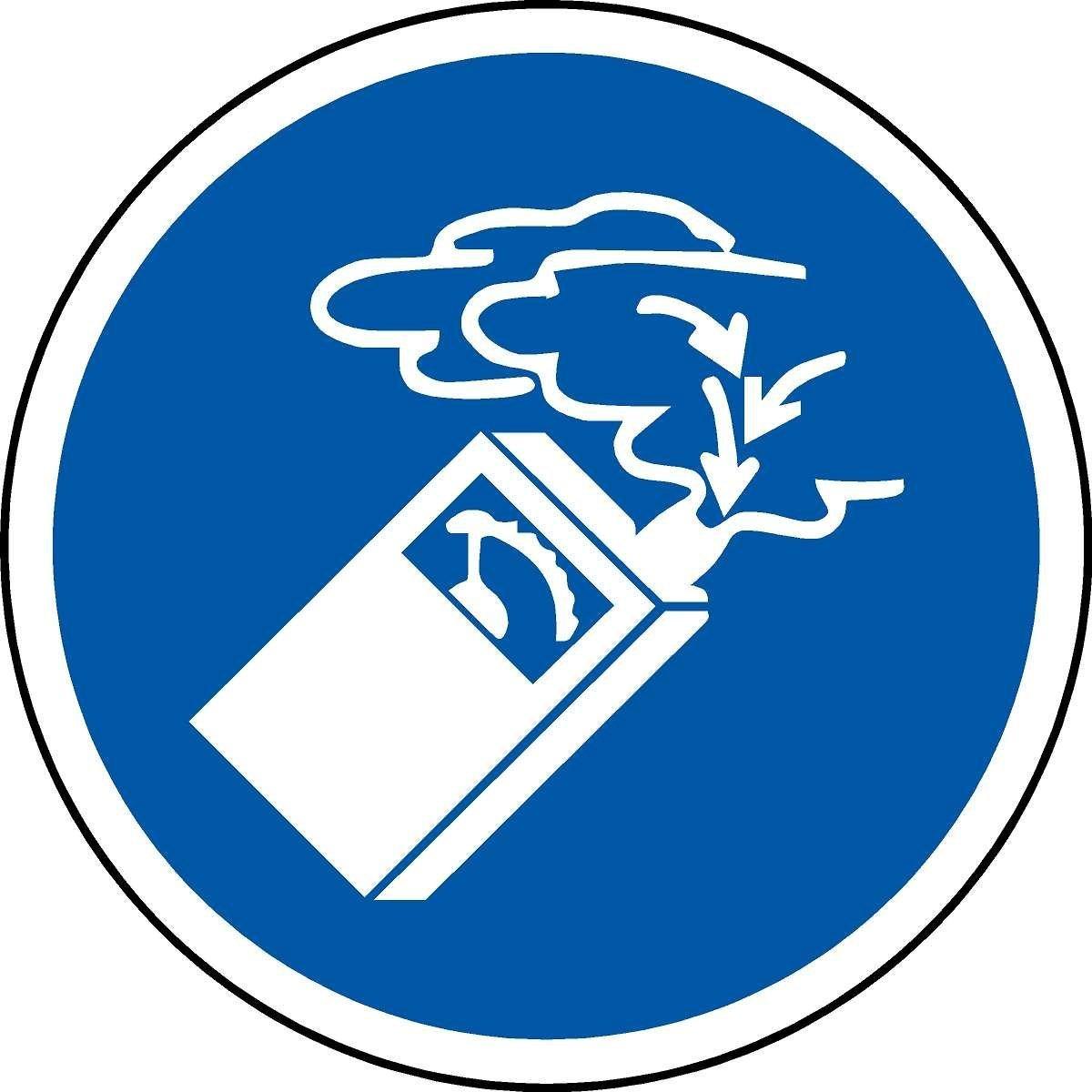 Label de caracteres ISO Seguridad - Uso Internacional Detector de gas Símbolo - pegatinas etiqueta 100 mm de diámetro: Amazon.es: Bricolaje y herramientas