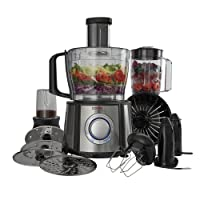 Food Processor Blender Multifunctional Kitchen Chopper with 2.4L Mixer Bowl, 1.5L Blender Jug & Range of Accessories 1100W by Cooks Professional