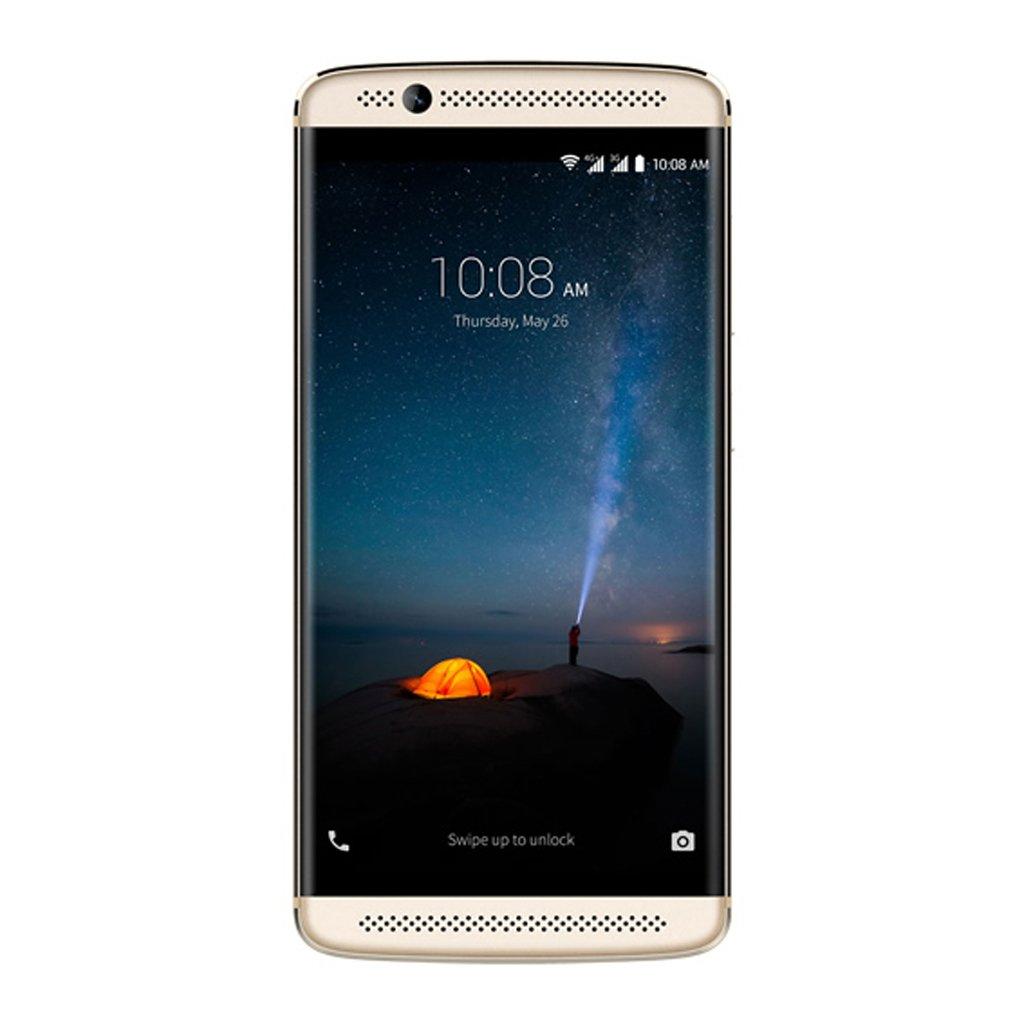 """中兴轴突7迷你智能手机 -  4G LTE的Android 6.0(Snapdragon的MSM8952,八溴核心,5.2""""AMOLED FHD屏,3GB RAM 32GB ROM,8MP + 16MP室,指纹ID,2.5D弧形玻璃,全金属承载式车身,快速充电,立体声,双SIM,手机)黄金"""