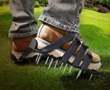 Lawn Aerators Premium Nylon ( Not Plastic ) Heavy Duty Lawn Aerator Shoes - 4 Adjustable Straps and Metal Buckles - Nylon Aerating Sandals with Zinc Alloy Buckles - Extra Spikes and Bonus Wrench Included
