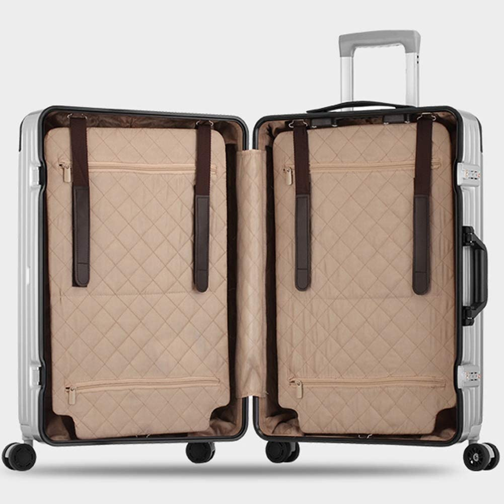 Color : Gold, Size : 26 inches 20//24//26//29 inches Z/&YY New Trolley case Universal Wheel Luggage Female Aluminum Frame Korean Male Student Luggage Lock Box Boarding