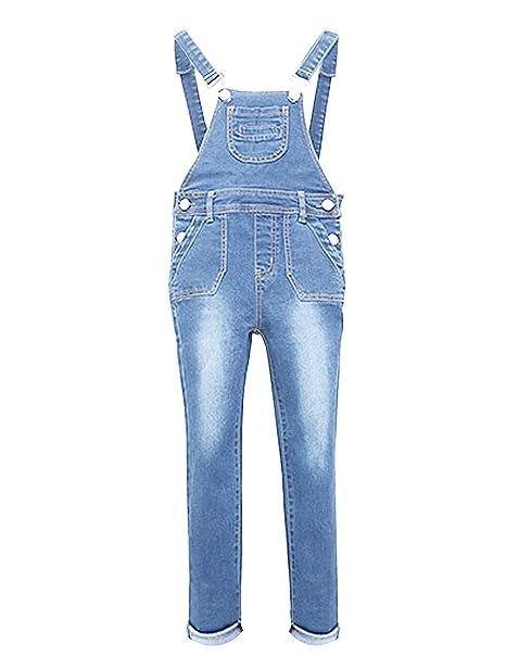 05a4a04455b Amazon.com  YJ.GWL Girls Denim Overalls(Light Blue